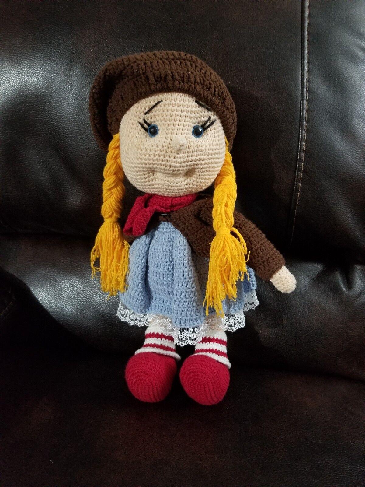 New Handmade Handmade Crochet Stuffed Doll Toy About 16 , Knit Doll, Amigurumi Doll