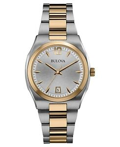 Bulova-Women-039-s-98M120-Classic-Quartz-Silver-Dial-Two-Tone-Bracelet-35mm-Watch