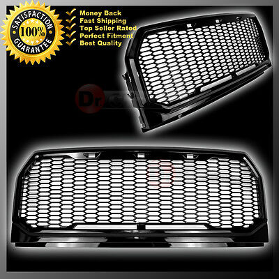 15-16 Ford F150 Black Front Hood Replacement Raptor Style Mesh Grille+Shell 2017
