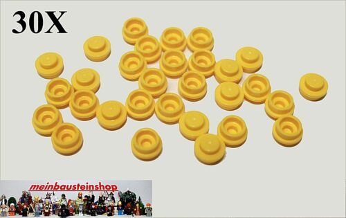 4073 runde Platten round Plate 1X1 Gelb Yellow NEU 30X Lego® 6141