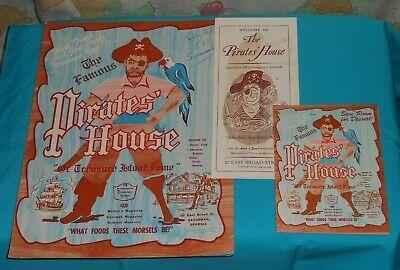 Vintage 1962 Pirates House Menu Brochure Flyer Savannah Georgia