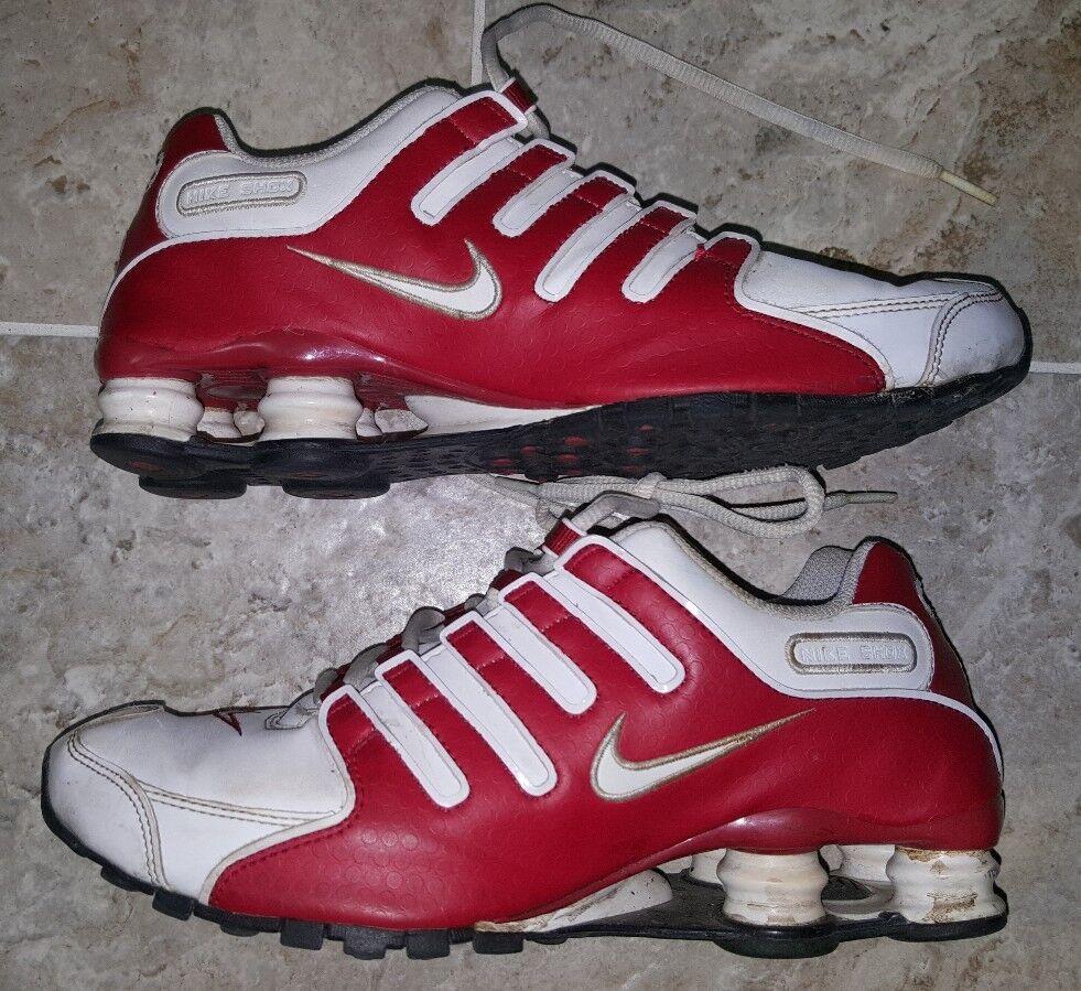 Le donne shox nz scarpe nike bianchi / san valentino rossi 314561-166 us8 ultra - raro!
