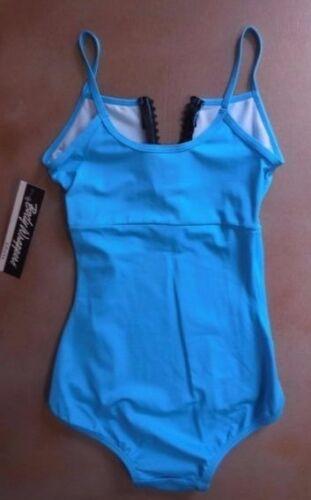 Body Wrappers 5106 Rhinestone Zipper Camisole Leotard Turquoise Ladies sizes New