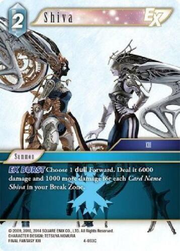 Common Near Mint Final Fantasy TCG 4-033C 6x Shiva EX