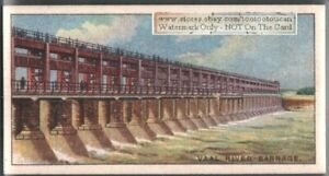 Vaal-River-Barrage-Reservoi-South-Africa-90-Y-O-Ad-Trade-Card