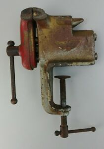 Vintage Collectible Miller Falls Clamp On Bench Vise Made