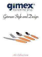 Gimex CAMPEGGIO STOVIGLIE POSATE in acciaio inossidabile set Tosca 16 pezzi arancio con soft-grip