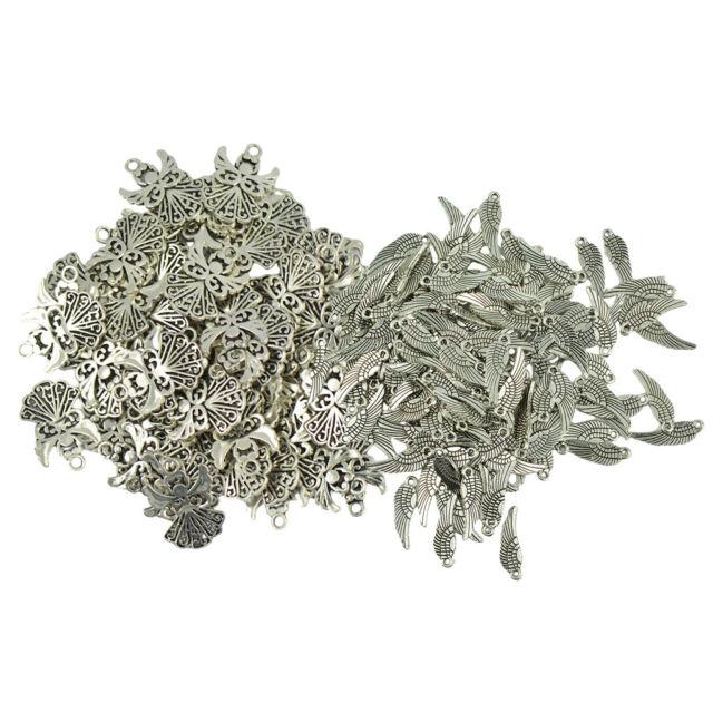 16pcs antiqued silver flower pendant charm G1110