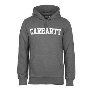 Hoodie College Hooded Dark Wip Men's About Sweat Carhartt Details Grey E2I9DHeWY