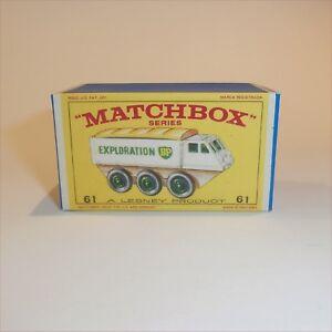 Matchbox-Lesney-61-b-Alvis-Stalwart-empty-Repro-E-style-Box