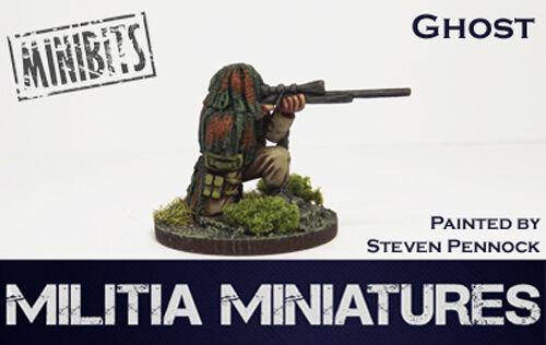 28mm moderno Wargames//interpretação de papéis-Miniaturas Milícia-Fantasma