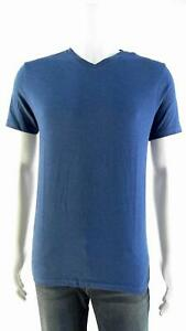 Mossimo Mens size S V-Neck Basic T-Shirt Tee Glacier Blue Colored Heather CHOP