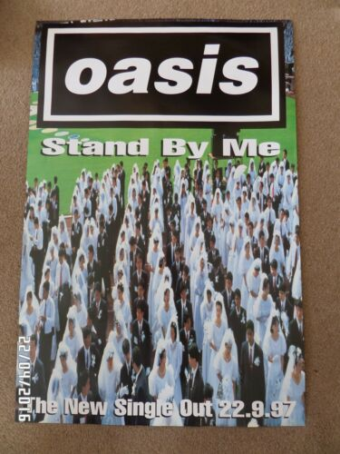 OASIS STAND BY ME ORIGINAL 1997 PROMO POSTER.
