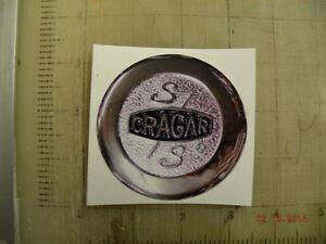"""Vintage Cragar Wheels sticker decal 3/""""x3/"""""""