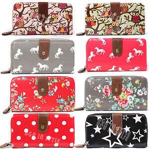 Ladies-Designer-Oilcloth-Large-Small-Purse-Wallet-Women-Girls-Coin-Purse-Bag