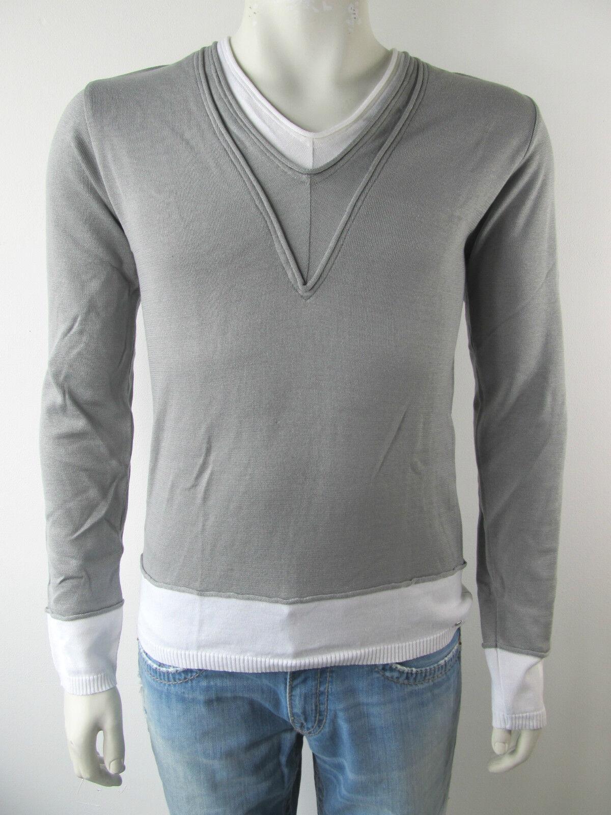 Bray Steve Alan Shirt Pull Pullover 2 in 1 Maglia 11R7026 Neu M