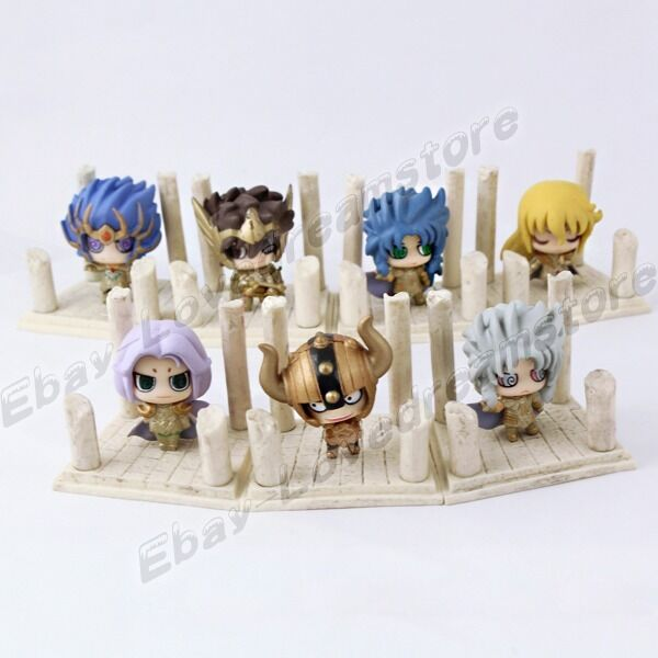 Set Of 7pcs Saint Seiya AioRos Aldebaran Shaka SAGA 4cm-4.5cm Figure No Box #02