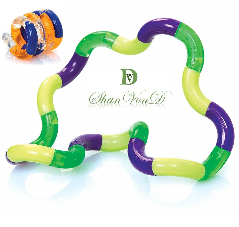 Autism Sensory Toys Tangle Toy Fidget Fiddle Therapy Aid SEN ADHD Random Colour