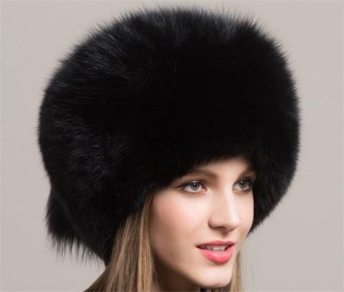 Winter Women Fur Cap Real genuine natural Fox Fur Hats ladies warm fashion cap