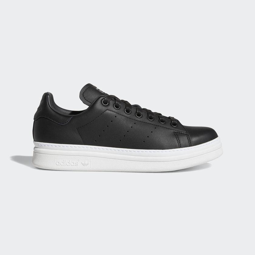 New Adidas Original Womens STANS SMITH BOLD BLACK / WHITE B28152 US W 5-11 TAKSE