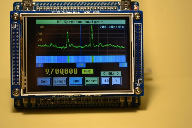 "HF Spectrum Analyzer and DDS HF Generator with touch screen controller (3.2""LCD)"