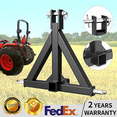 CAT 1 Farm Tractor Skid 3 Point Hitch Drawbar Receiver Hitch