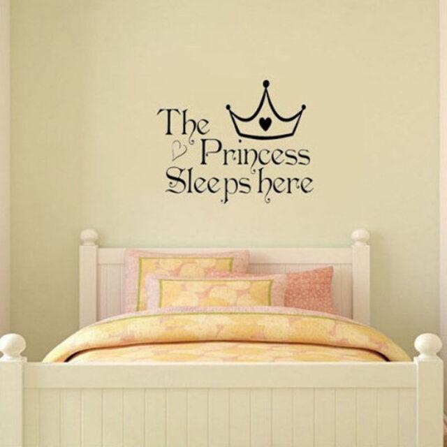 Girl Princess Removable Wall Sticker Word Nursery Baby Room Decor Decal Art