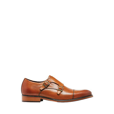 NEW Julius Marlow Space Double Monk Slip On Tan