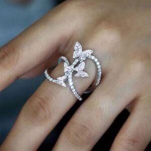 Butterfly-Women-Engagement-Cute-Butterfly-Crystal-Cubic-Zircon-Rings-Jewelry