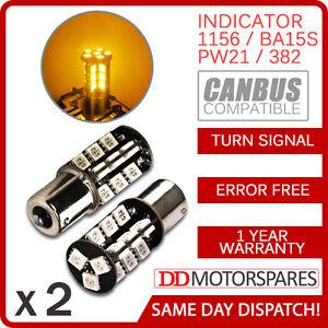 2-x-CANBUS-ERROR-FREE-BA15S-382-p21w-1156-BULB-INDICATOR-ORANGE-30-SMD
