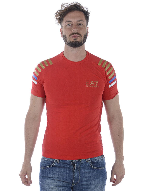 Emporio Armani EA7 T Shirt Sweatshirt Man rot 3ZPTA8PJM5Z 1451 Sz L MAKE OFFER