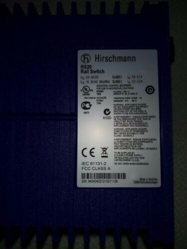 Hirschmann RS20-0800T1T1SDAE Managed 8-port switch