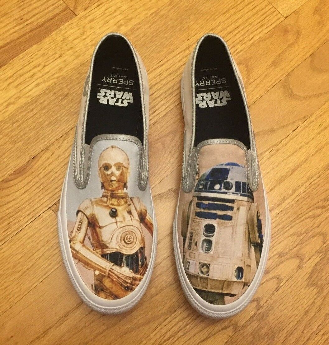 Sperry Top-Sider Star Wars Droids Cloud On R2-D2 C-3PO Men's Slip On Cloud Shoes STS17649 1deca5