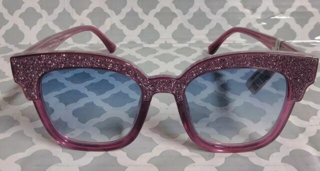 a7ba42ec4c6 Jimmy Choo Mayela s 197 Purple Glitter Blue Gradient Sunglasses 50 ...