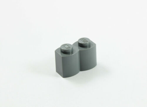 Modified 1 x 2 Log Part No 30136 LEGO® Dark Bluish Gray Brick