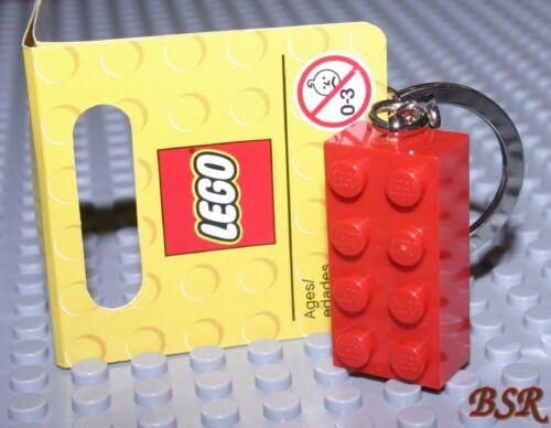 LEGO® SCHLÜSSELANHÄNGER roter Stein NEU ! Baustein rot Grundbaustein