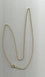 Halskette-333-Gelbgold-amp-Federring-Rundpanzerkette-40-cm-Konkursmasse