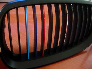 M Colors Grille Kidney Stripe Decal BMW M M M X E E E - Bmw grille stripe decals