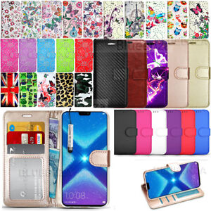 Details about For Honor 8X Phone Wallet Case Leather Flip Book Stylish  Cover + Screen Film
