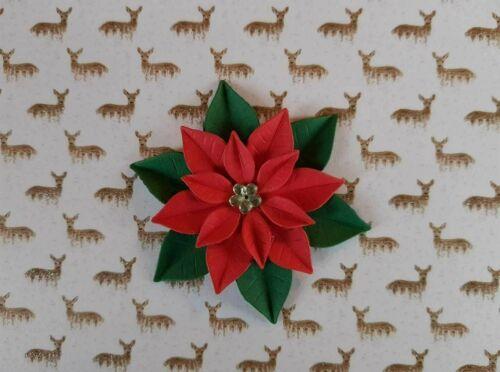 9 x Stanzteile Poinsettia Weihnachtsstern Kartenaufleger Kartenschmuck Basteln