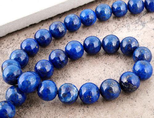 PREMIUM QUALITY LAPIS LAZULI GEMSTONE BEADS 6mm 30 Beads