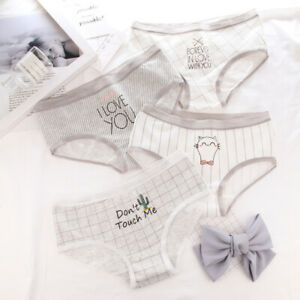 Women-Girls-Cotton-Underwear-Briefs-Panties-Breathable-Underpants-Style-Cute