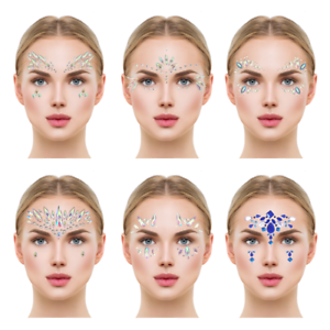 7ed80b0ca Image is loading Face-Crystal-Sticker-Eye-Crafted-Body-Jewels-Festival-