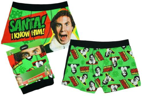 Homme Pack De 2 Nouveauté Elf Santa je le connais coffre Fit Boxer Short Slips S à XL