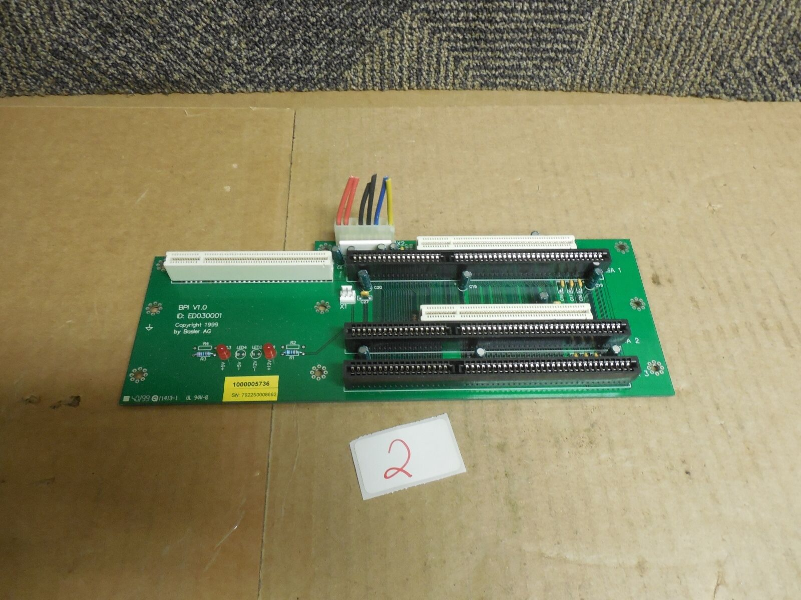 BASLER AG TERMINAL CIRCUIT BOARD CARD BPI V1.0 ED030001