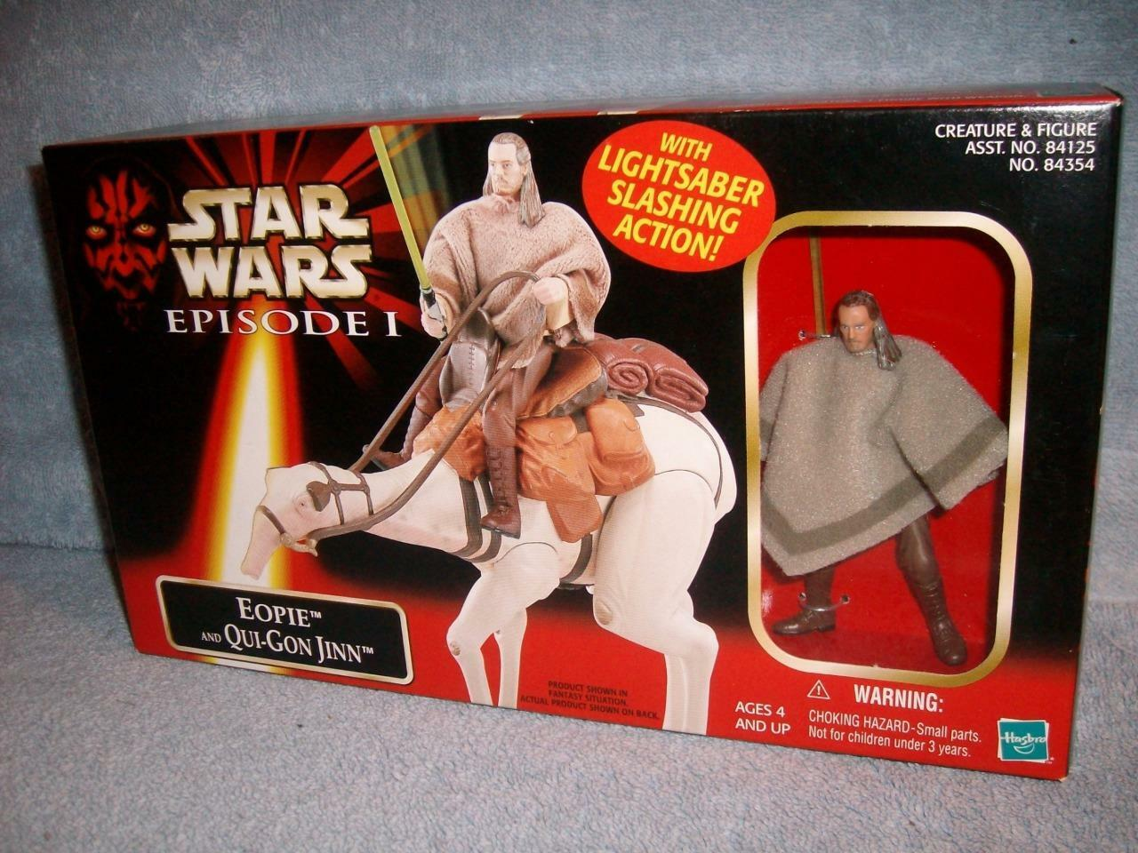 Eopie and Qui-Gon Jinn Rare Japanese Japan Tomy Episode I Star Wars 1999 Nuovo