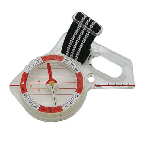 Outdoor Portable Mini Thumb Compass w// Map Scale for Hunting Orienteering Hiking