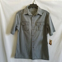 Mens Shirt Size S Woven Short Sleeves Button Down