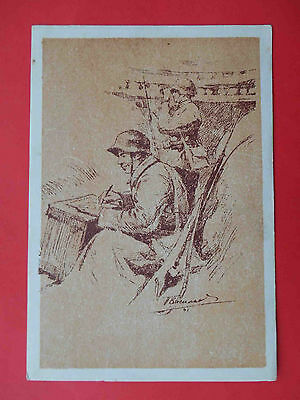 USSR 1942 Soldier writes letter to home RARE Russian WWII postcard local edition