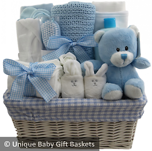 Hospitalnew born essentials baby gift baskethamper boy baby shower image is loading hospital new born essentials baby gift basket hamper negle Image collections
